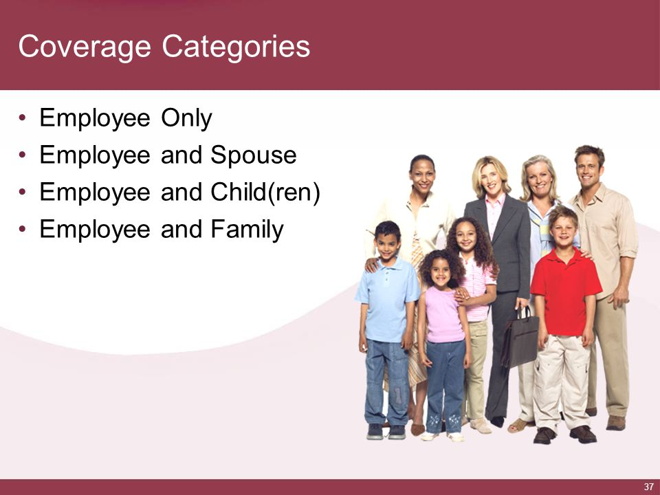 Coverage Categories Employee Only Employee and Spouse