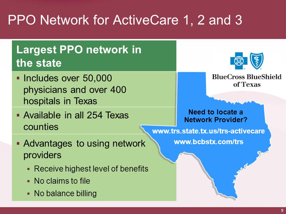 PPO Network for ActiveCare 1, 2 and 3