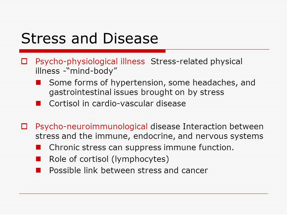 stress in health and disease pdf