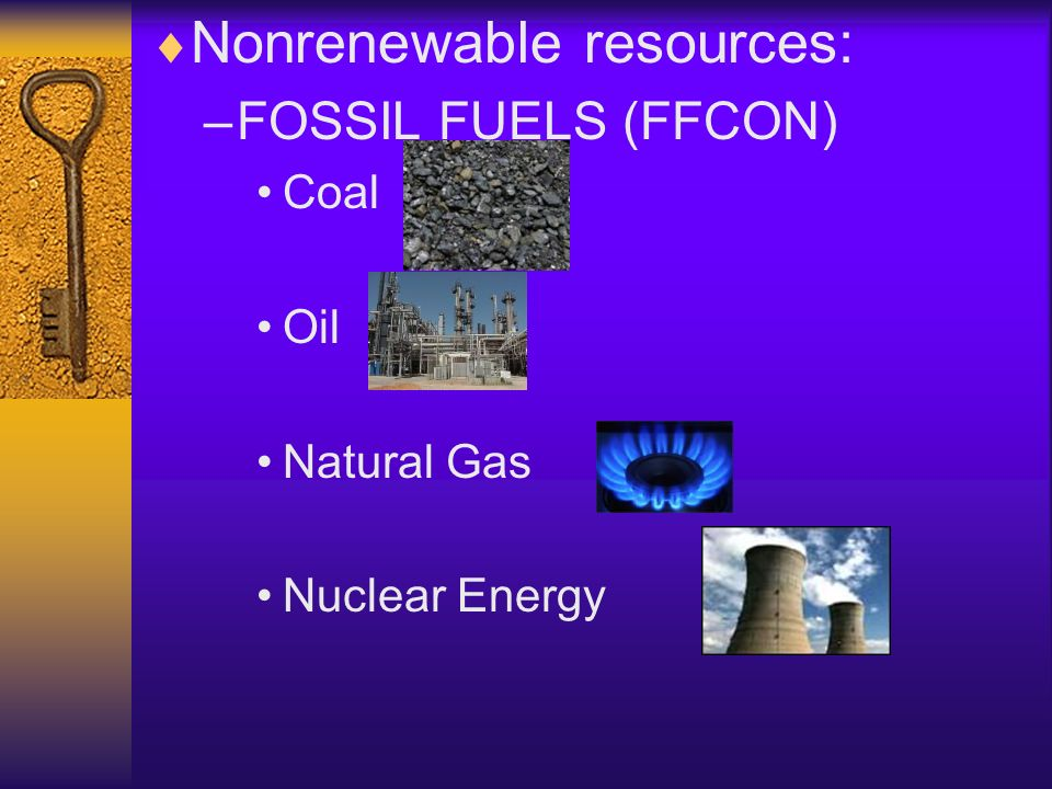 Nonrenewable resources: