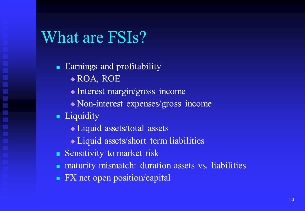 What are FSIs Earnings and profitability ROA, ROE