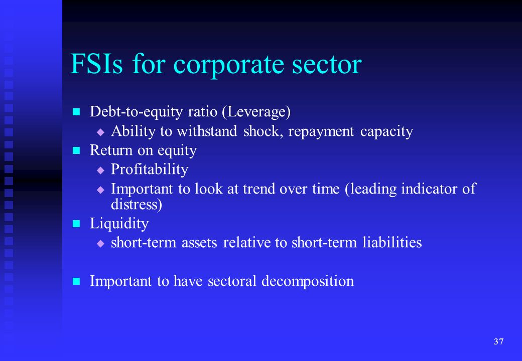 FSIs for corporate sector