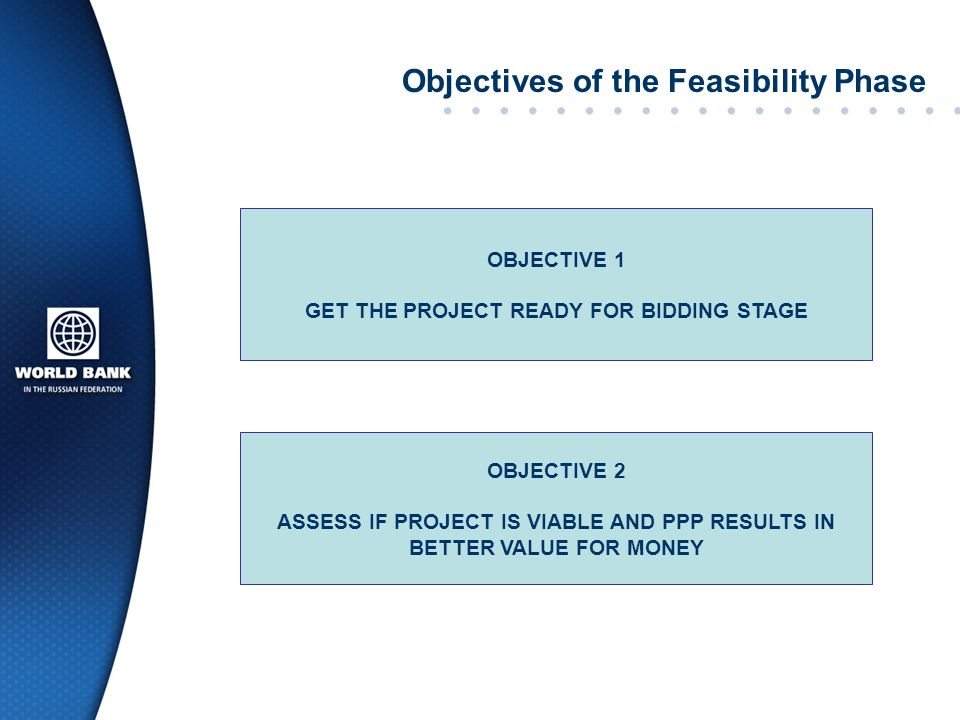 Objectives of the Feasibility Phase