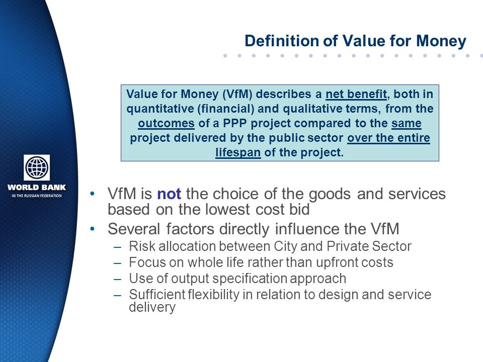 Definition of Value for Money