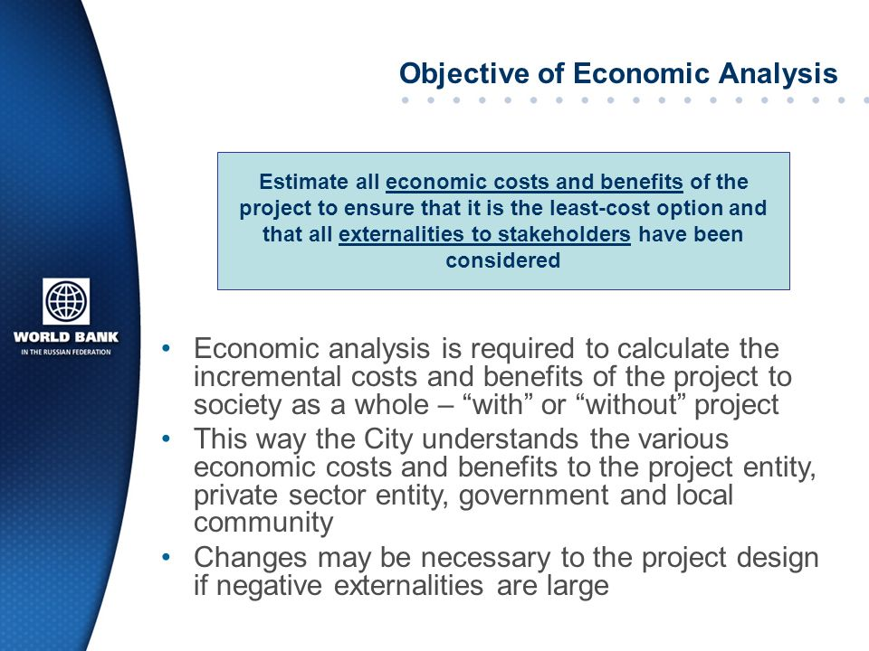 Objective of Economic Analysis