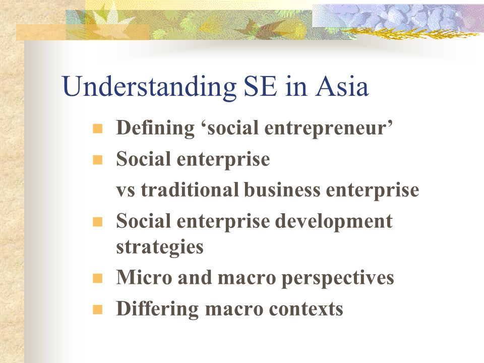 Understanding SE in Asia