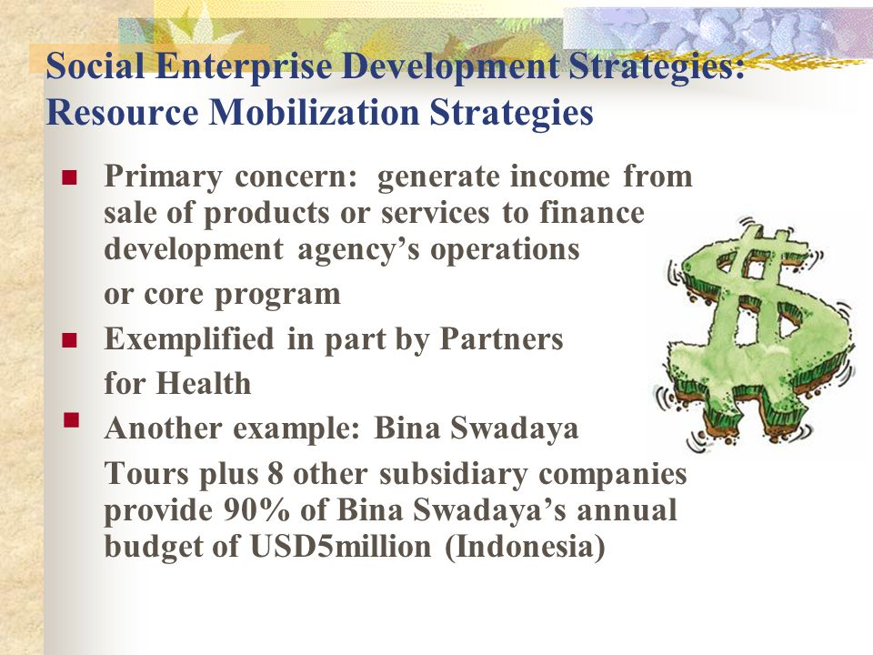 Social Enterprise Development Strategies: Resource Mobilization Strategies