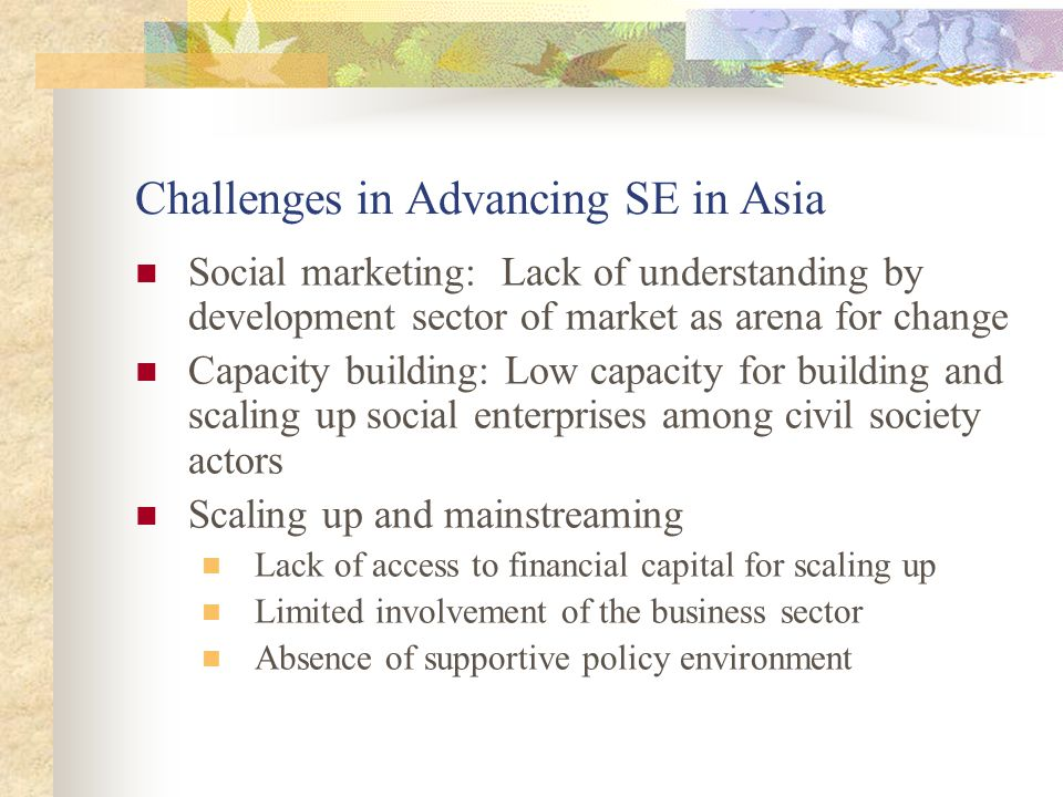 Challenges in Advancing SE in Asia