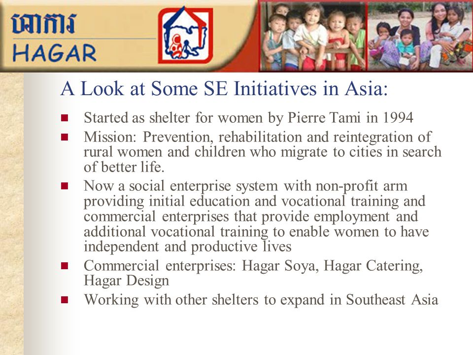 A Look at Some SE Initiatives in Asia:
