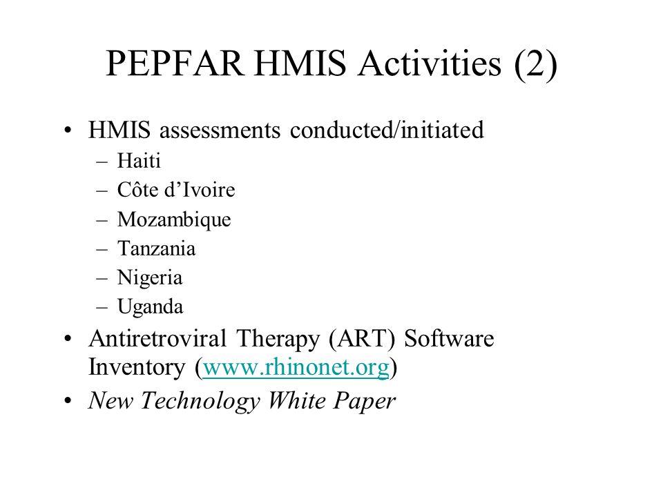 PEPFAR HMIS Activities (2)