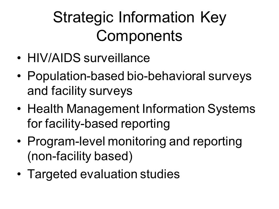 Strategic Information Key Components