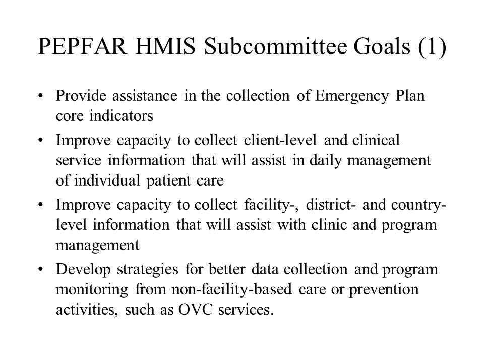 PEPFAR HMIS Subcommittee Goals (1)
