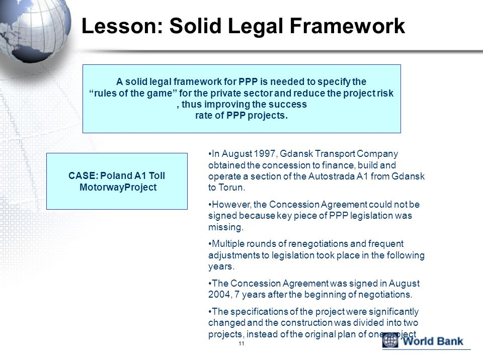 Lesson: Solid Legal Framework
