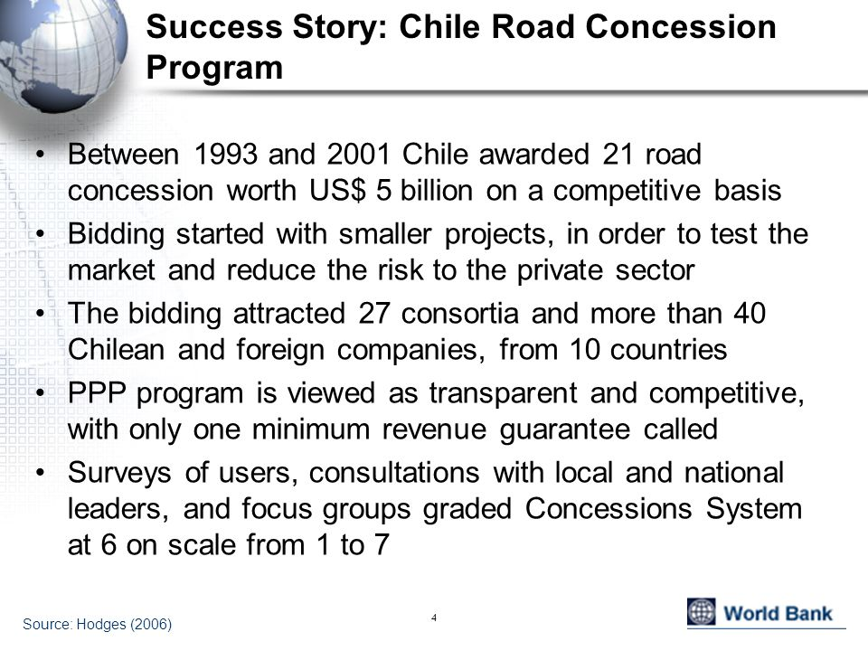 Success Story: Chile Road Concession Program