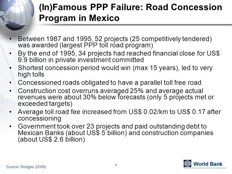 (In)Famous PPP Failure: Road Concession Program in Mexico
