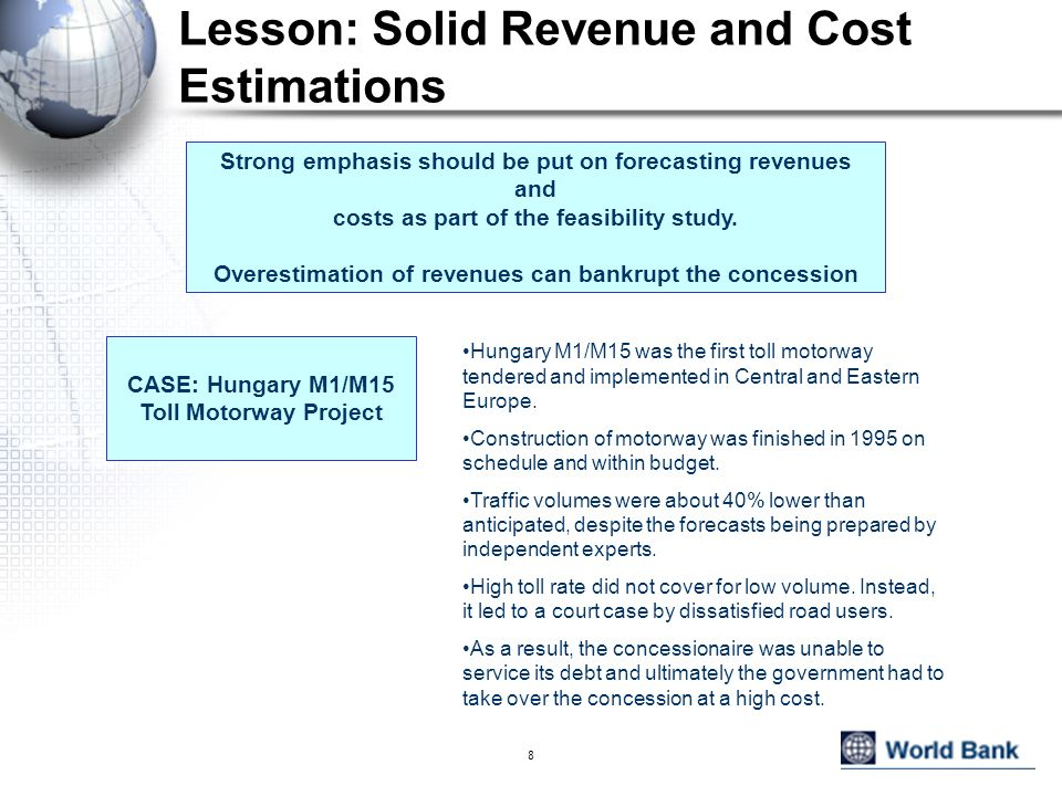 Lesson: Solid Revenue and Cost Estimations
