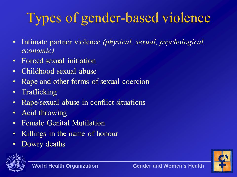 Types of gender-based violence