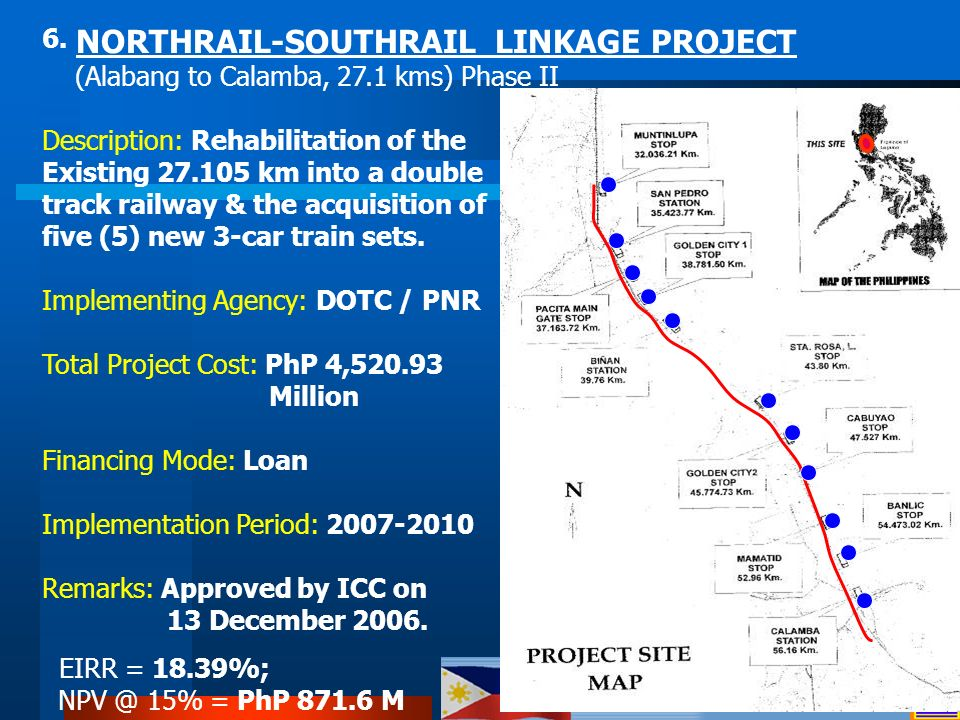 6. NORTHRAIL-SOUTHRAIL LINKAGE PROJECT