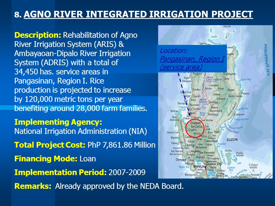 8. AGNO RIVER INTEGRATED IRRIGATION PROJECT