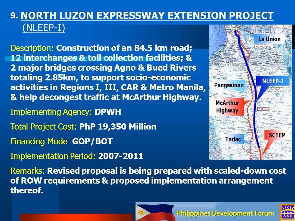 9. NORTH LUZON EXPRESSWAY EXTENSION PROJECT
