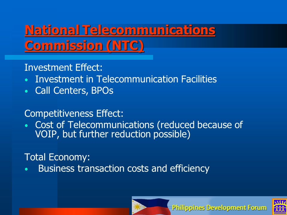 National Telecommunications Commission (NTC)