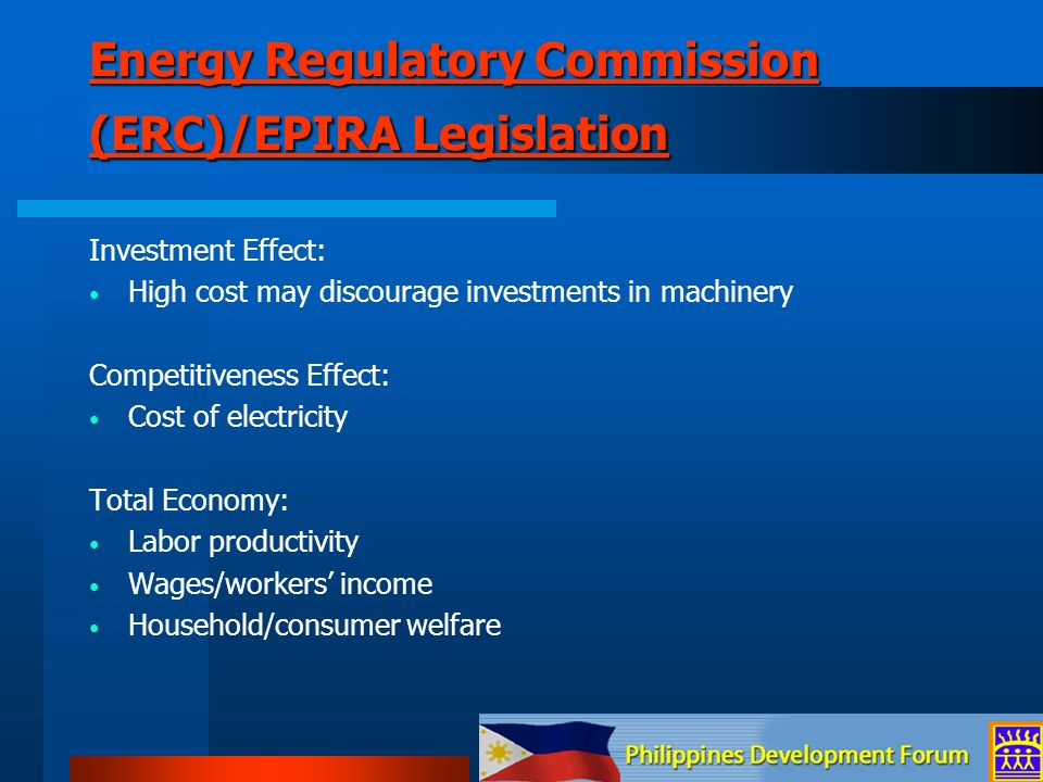 Energy Regulatory Commission (ERC)/EPIRA Legislation