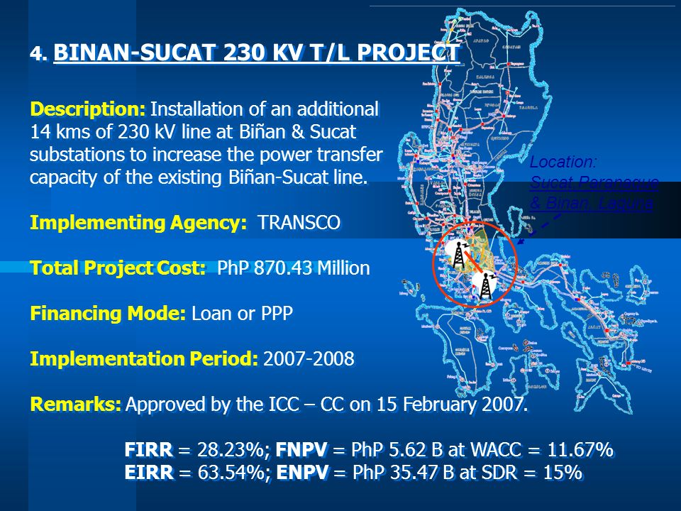 4. BINAN-SUCAT 230 KV T/L PROJECT