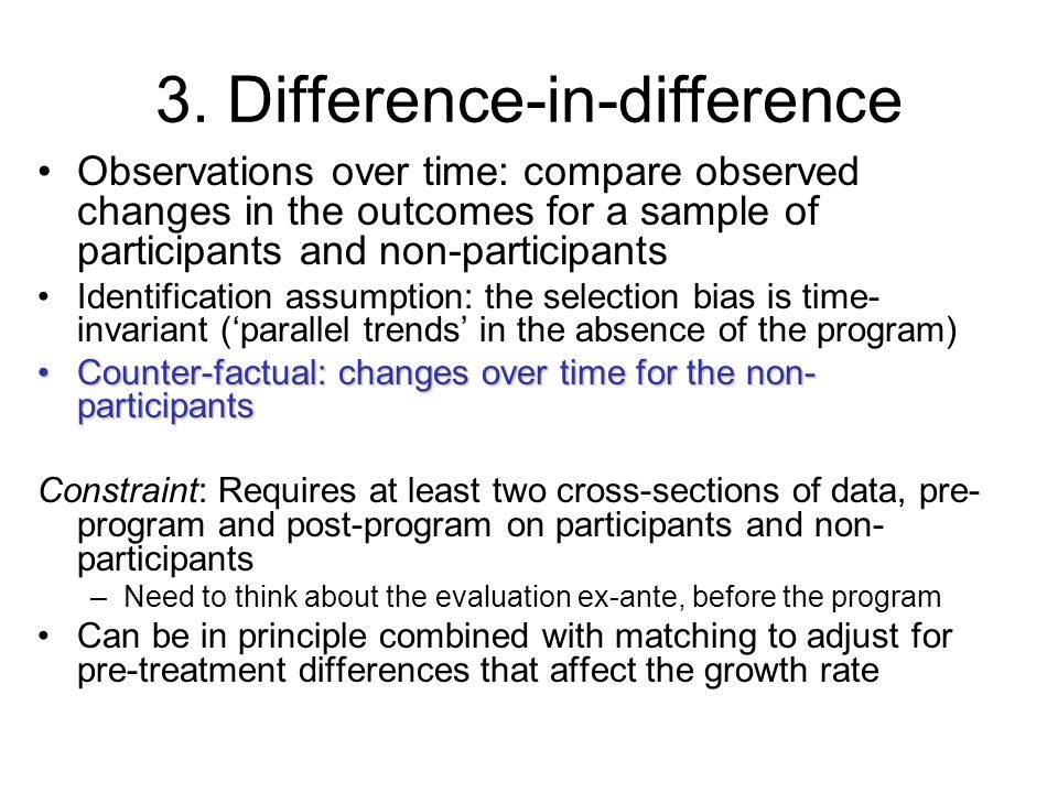 3. Difference-in-difference