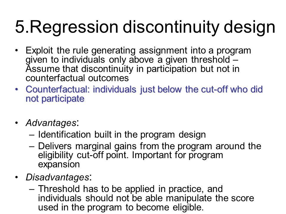 5.Regression discontinuity design