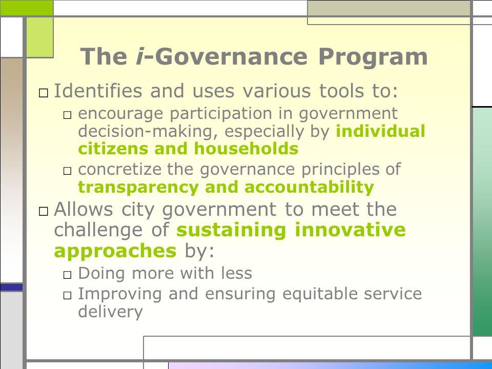 The i-Governance Program