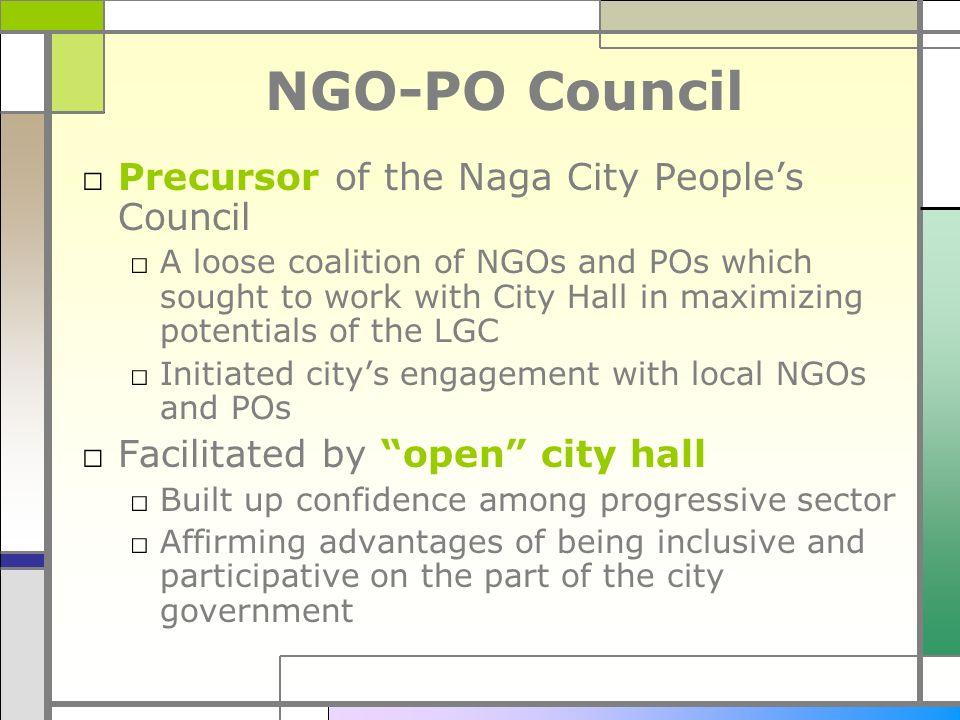 NGO-PO Council Precursor of the Naga City People's Council
