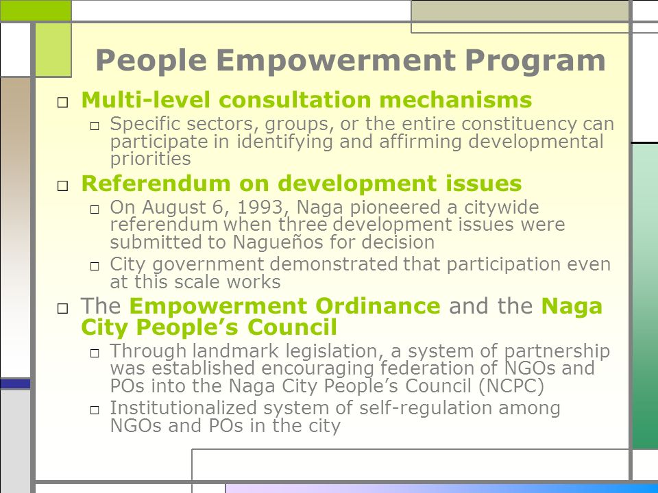 People Empowerment Program