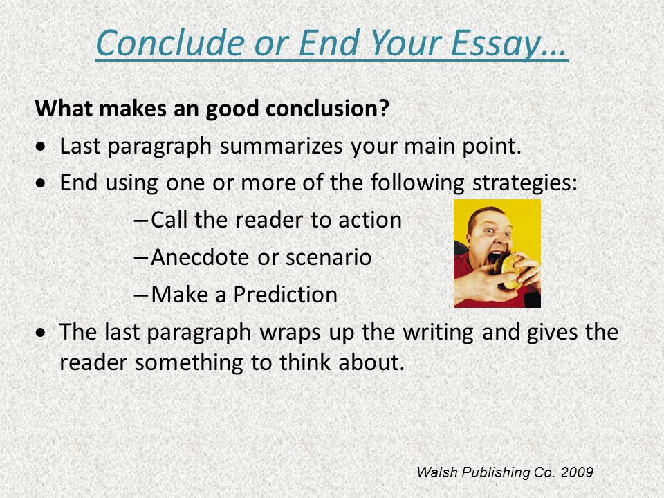 Essay conclusion strategies