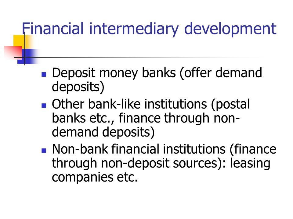 Financial intermediary development