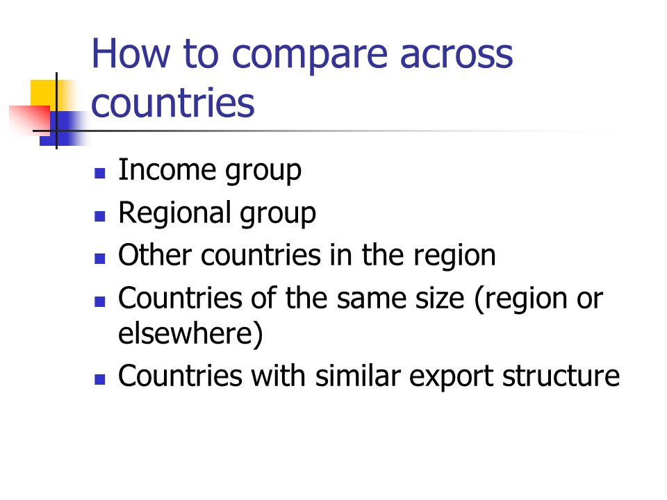 How to compare across countries