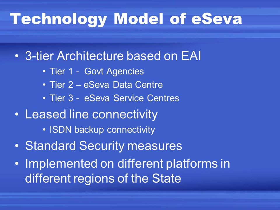 Technology Model of eSeva