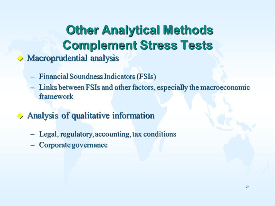 Other Analytical Methods Complement Stress Tests