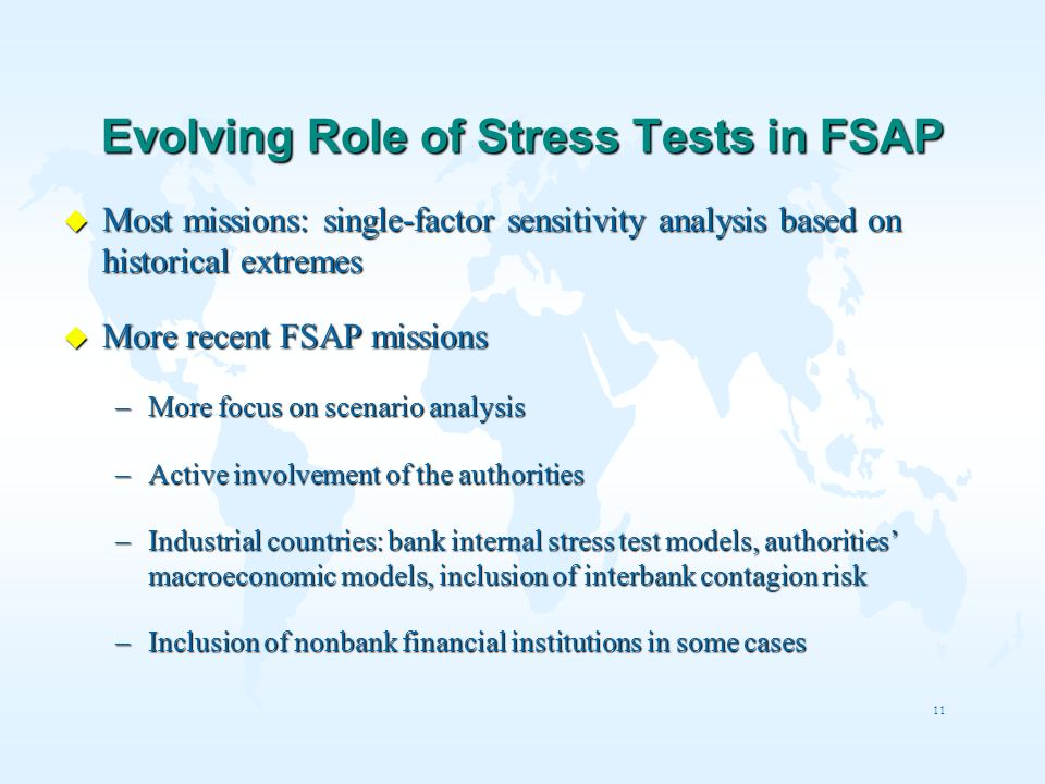 Evolving Role of Stress Tests in FSAP