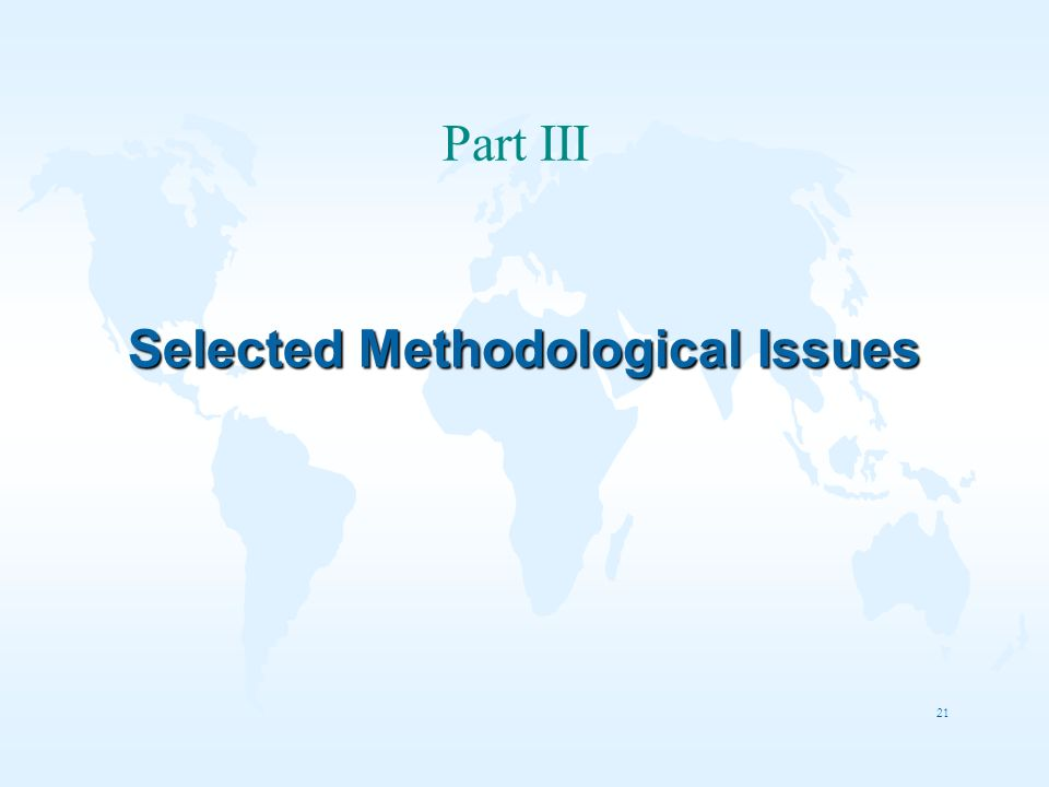 Selected Methodological Issues