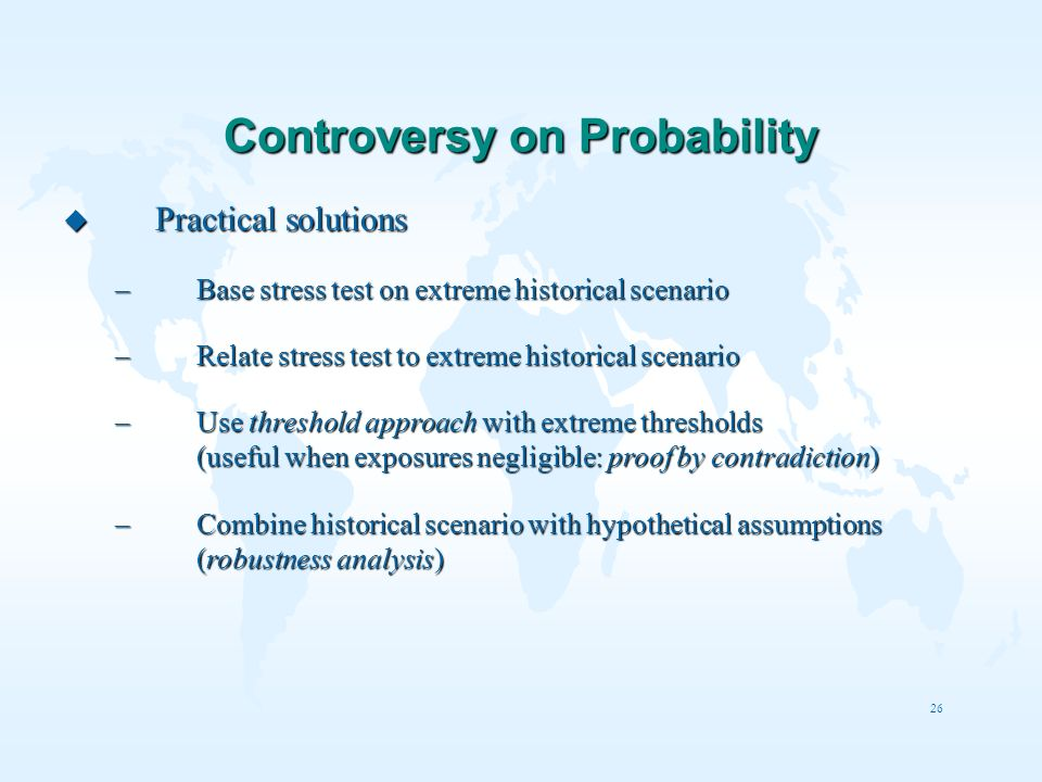 Controversy on Probability