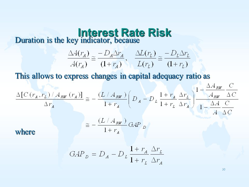 Interest Rate Risk Duration is the key indicator, because