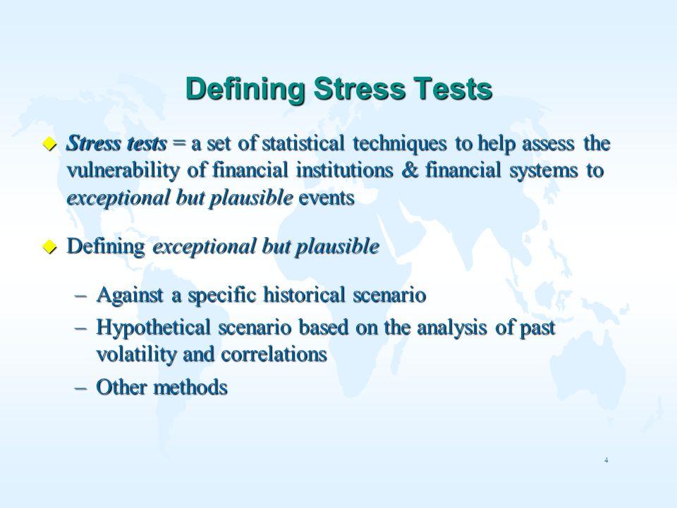 Defining Stress Tests