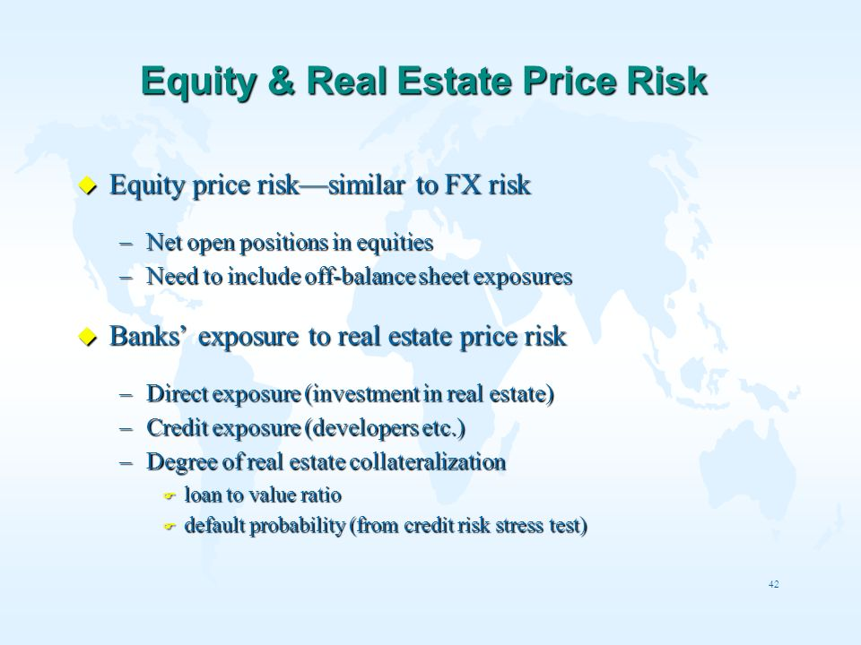 Equity & Real Estate Price Risk