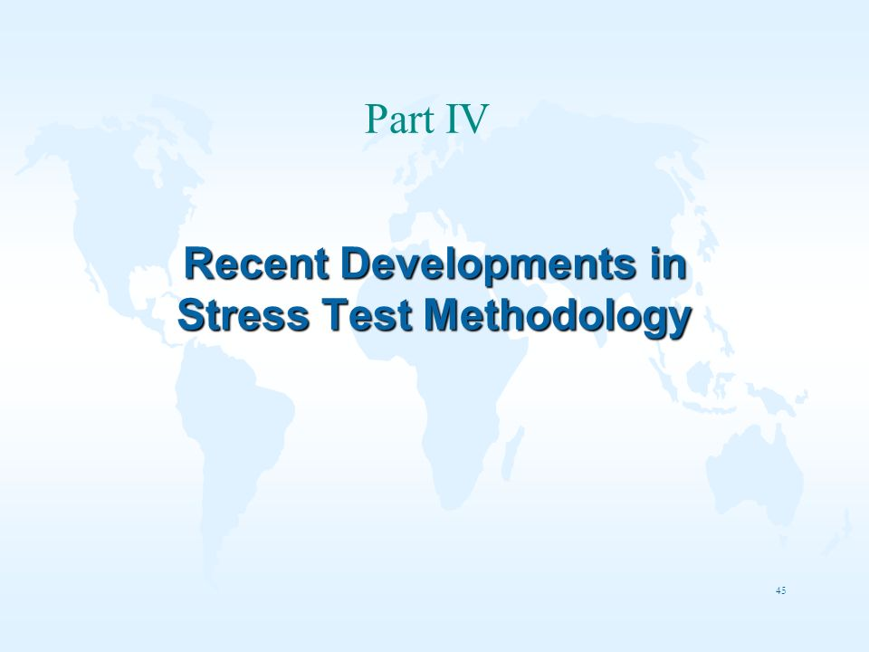 Recent Developments in Stress Test Methodology