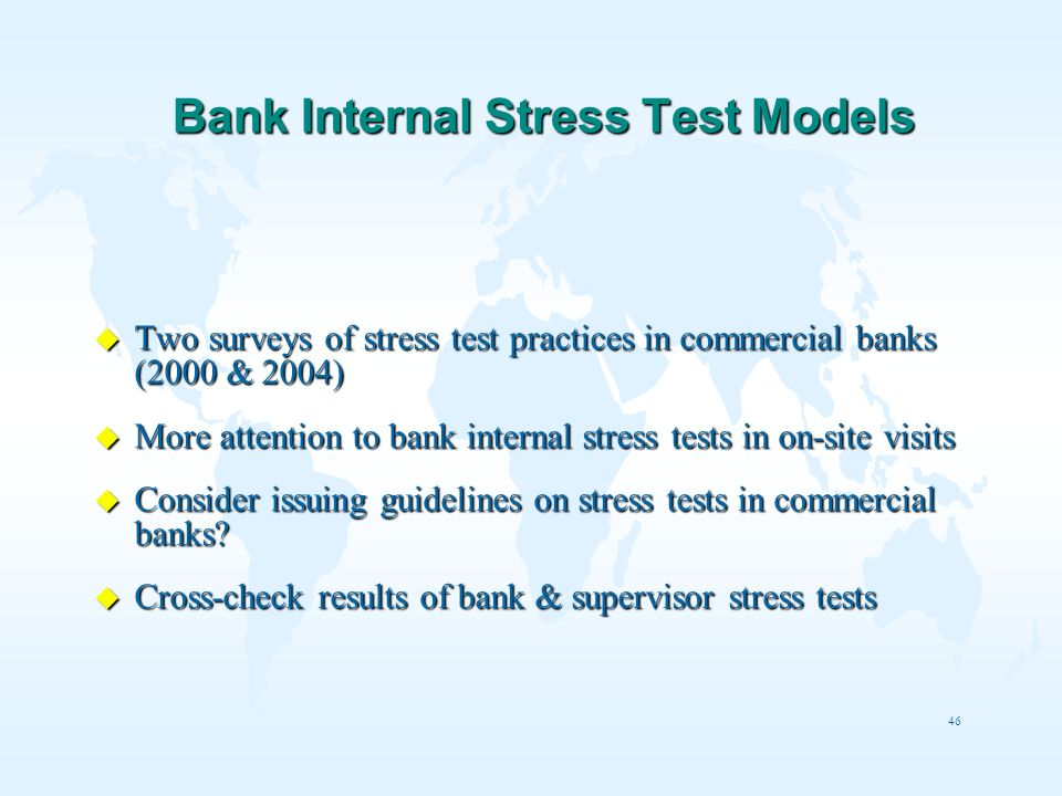 Bank Internal Stress Test Models