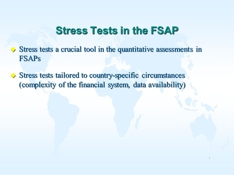 Stress Tests in the FSAP