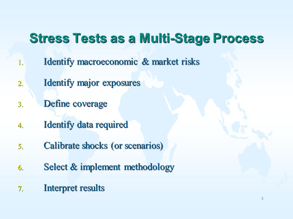 Stress Tests as a Multi-Stage Process