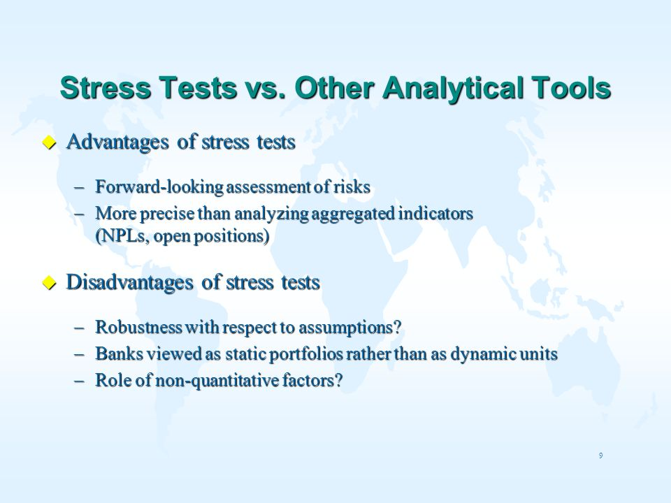 Stress Tests vs. Other Analytical Tools