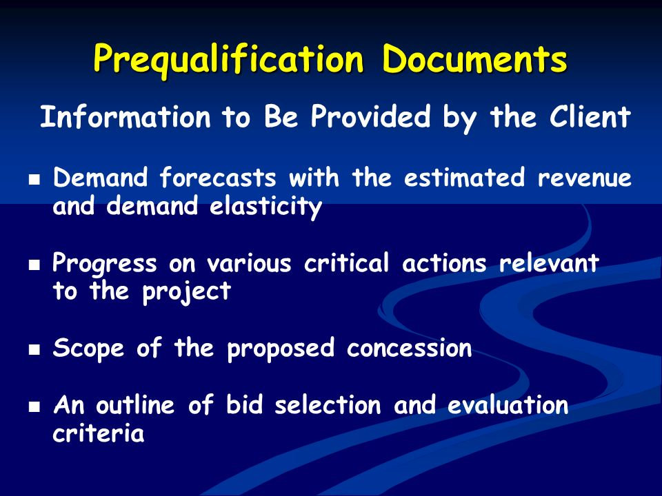 Prequalification Documents