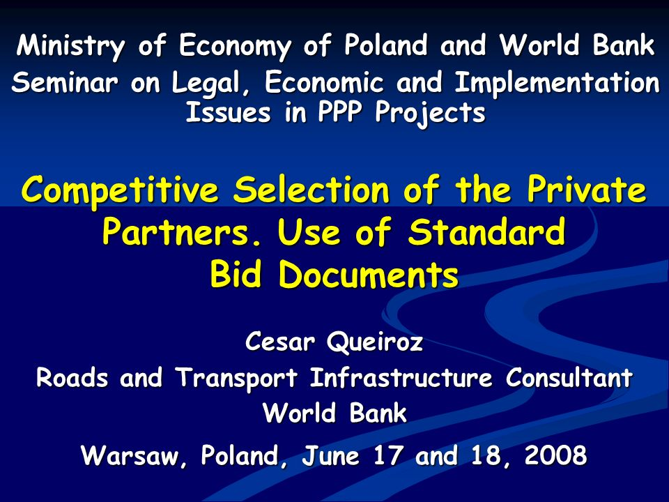 Ministry of Economy of Poland and World Bank